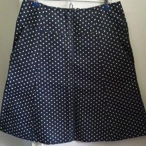 DKNY Navy Polka Dot Aline Skirt sz 8